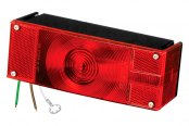 "Wesbar® - Over 80"" 7-Function Low Profile Tail Light with Stripped Leads"