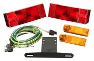 "Wesbar® - 80"" Low Profile Trailer Light Kit with 25' Wire Harness"
