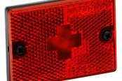 "Wesbar® - Red Side Marker/Clearance Light with Reflex and 18"" Pigtail"