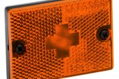 "Wesbar® - Amber Side Marker/Clearance Light with Reflex and 18"" Pigtail"