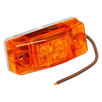 "Wesbar® - Amber LED SMCL Stud Mount Lamp with 12"" Brown WIRE"