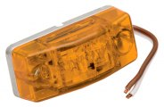 Wesbar® - Amber LED Side Marker Clearance Light with Stud Mounting