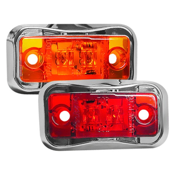 Wesbar® - Amber LED Side Marker Clearance Light with Chrome Bezel