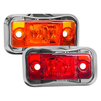 Wesbar® - Red LED Side Marker Clearance Light with Chrome Bezel