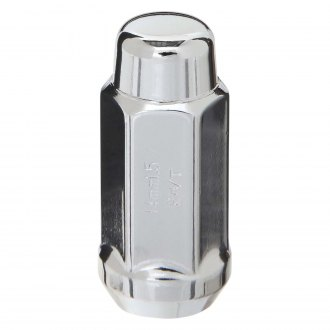 West Coast® - Chrome Cone Seat Acorn Bulge Long Closed End Lug Nut