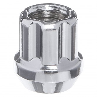 West Coast® - Chrome Cone Seat Spline Open End Lug Nuts