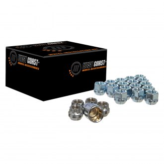 West Coast® - Chrome Cone Seat Acorn Bulge Open End Wheel Installation Kit