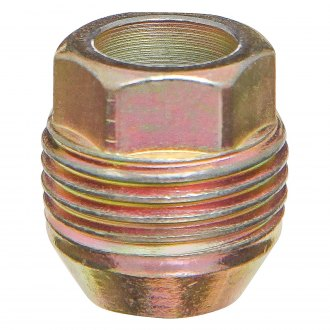 West Coast® - Yellow Zinc Cone Seat OE Style Acorn Bulge Open End External Thread Lug Nut