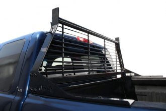 Image may not reflect your exact vehicle! Westin® - HDX Black Headache Rack, Installed