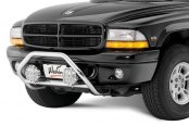 "Image may not reflect your exact vehicle! Westin® - 2"" Safari Stainless Steel Light Bull Bar"