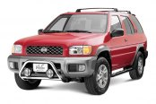 "Westin® - 2"" Safari Stainless Steel Light Bull Bar on Nissan Pathfinder"