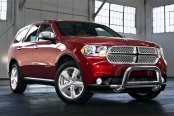 "Westin® - 3"" E-Series Bull Bar with Skid Plate Removed on Dodge Durango"