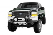Image may not reflect your exact vehicle! Westin® - 3'' Ultimate Chrome Bull Bar on Ford F-250