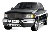Image may not reflect your exact vehicle! Westin® - 3'' Ultimate Chrome Bull Bar on Ford F-150