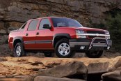 "Westin® - 3"" Ultimate Chrome Bull Bar with Skid Plate Removed on Chevy Avalanche"