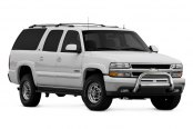 Image may not reflect your exact vehicle! Westin® - 3'' Ultimate Chrome Bull Bar on Chevy Suburban