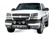 "Westin® - 3"" Ultimate Black Powdercoat Bull Bar on Chevy Silverado"