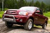 Image may not reflect your exact vehicle! Westin® - 3'' Ultimate Chrome Bull Bar on Toyota Tundra