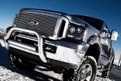 "Westin® - 3"" Ultimate Chrome Bull Bar with Skid Plate Removed on Ford F-450"