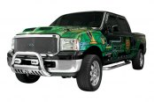 Image may not reflect your exact vehicle! Westin® - 3'' Ultimate Chrome Bull Bar on Ford F-550