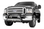 Image may not reflect your exact vehicle! Westin® - 3'' Ultimate Chrome Bull Bar on Ford F-350