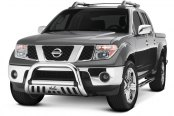 Image may not reflect your exact vehicle! Westin® - 3'' Ultimate Chrome Bull Bar on Nissan Frontier