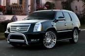 "Westin® - 3"" Ultimate Chrome Bull Bar with Skid Plate Removed on Cadillac Escalade"
