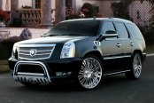 "Westin® - 3"" Ultimate Chrome Bull Bar on Cadillac Escalade"