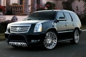 "Westin® - 3"" Ultimate Black Powdercoat Bull Bar on Cadillac Escalade"