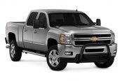 "Westin® - 3"" Ultimate Black Powdercoat Bull Bar with Skid Plate Removed on Chevy Silverado"