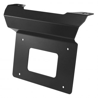 Westin® - Black Bottom Mount License Plate Relocator for Contour Bull Bar