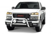 Image may not reflect your exact vehicle! Westin® - 3'' Ultimate Chrome Bull Bar on GMC Canyon