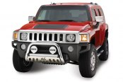 "Westin® - 2.5"" Ultimate Chrome Bull Bar on Hummer H3"