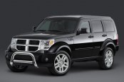 "Westin® - 2.5"" Ultimate Chrome Bull Bar with Skid Plate Removed on Dodge Nitro"