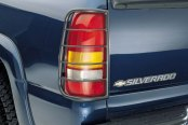 Westin® - Sportsman Black Powdercoat Tail Light Guards, Installed
