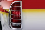 Image may not reflect your exact vehicle! Westin® - Sportsman Chrome Tail Light Guards Installed