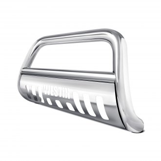 Image may not reflect your exact vehicle! Westin® - 3 E-Series Polished Stainless Steel Bull Bar