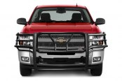 Image may not reflect your exact vehicle! Westin® - HDX Black Powdercoat Winch Mount Grille Guard on Chevy Silverado