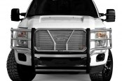 Image may not reflect your exact vehicle! Westin® - HDX Stainless Steel Winch Mount Grille Guard on Ford F-250