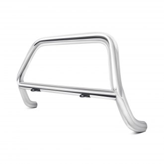 Image may not reflect your exact vehicle! Westin® - 2 Safari Stainless Steel Light Bull Bar