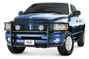 Image may not reflect your exact vehicle! Westin® - Sportsman Black Grille Guard Installed