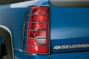 Image may not reflect your exact vehicle! Westin® - Sportsman Black Powdercoat Tail Light Guards