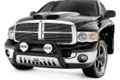 "Image may not reflect your exact vehicle! Westin® - 3"" Ultimate Black Bull Bar on Dodge Ram"