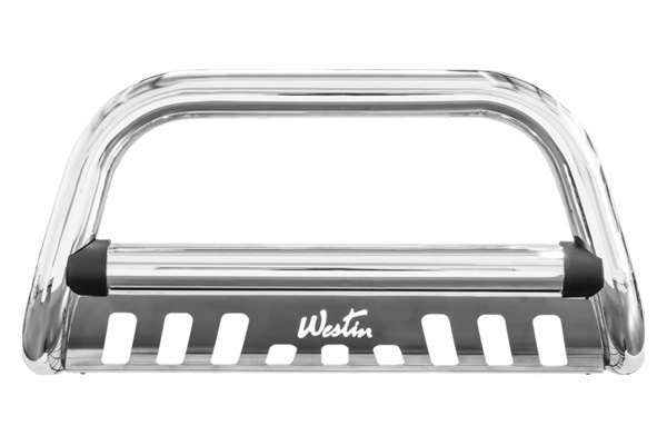 Westin® - Ultimate Chrome Bull Bar with Skid Plate