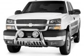 "Image may not reflect your exact vehicle! Westin® - 3"" Ultimate Chrome Bull Bar on Chevy Silverado"