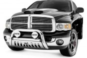 "Image may not reflect your exact vehicle! Westin® - 3"" Ultimate Chrome Bull Bar on Dodge Ram"