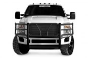 Image may not reflect your exact vehicle! Westin® - HDX Black Powdercoat Grille Guard - Installed