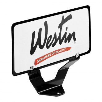 Westin® - Black Powdercoat License Plate Relocator