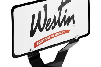 Westin® 32-0055 - Black Powdercoat License Plate Relocator