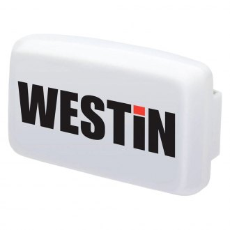 "Westin® - 6"" Rectangular White Plastic Light Cover"